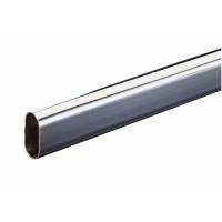 Tube penderie ovale 30x15mm longueur 2000mm acier chromé INTERGES