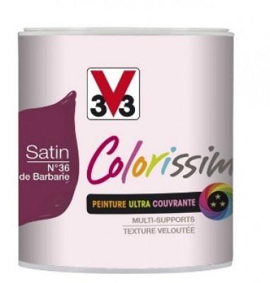Peinture colorissim satin 7 gris ardoise pot 2,5L V33