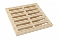 Grille sol seule 25x25 sable NICOLL