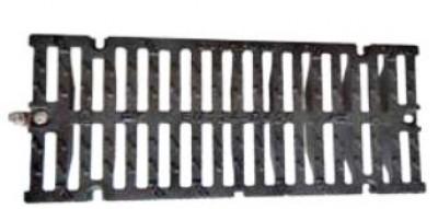 Grille fonte caniveau 750x300mm sans cadre PMR C250 PRODUITS INDUSTRIELS LORRAINS