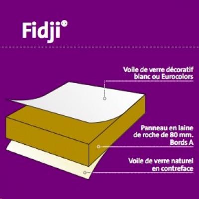 dalle de plafond en laine de roche fidji blanc 600x600mm. Black Bedroom Furniture Sets. Home Design Ideas