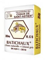 Chaux naturelle grise à maçonner Batichaux FL 5 - sac de 35 kg