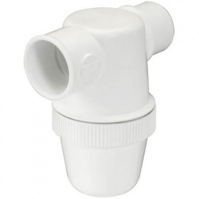 Siphon lavabo à coller horizontale diamètre 32mm PVC-C blanc NICOLL