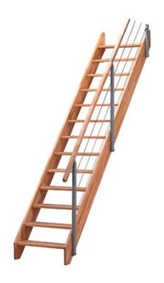 Escalier ALSACE bois 280x70cm 13 marches SOGEM MENUISERIE