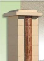 Pilier SIGNATURE 39x39x16,7 ton pierre WESER