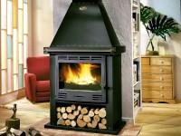 Poêle cheminée CANTOU 10,5kW peint anthracite SANS INSERT GODIN