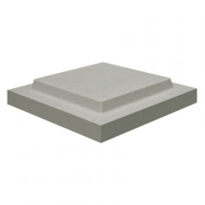 Chapeau plat double couronnement 50x50x6cm +4 gris WESER