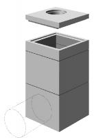 Rehausse béton pour regard 1200x1200mm hauteur interieur 60cm avec echelons SOBEMO