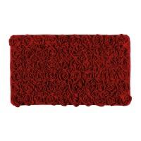 Tapis de bain 60x100cm rose rouge AQUANOVA