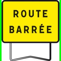 Panneau KC1 T1 ROUTE BARRÉE SIGNATURE