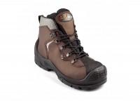 Chaussures de sécurité hautes UNIPRO cuir marron S3 SRC AN HI CI pointure 45 MILLE GASTON