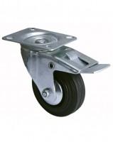 Roulette de manutention pivotante à frein diamètre 100mm 75kgs INTERGES.COM