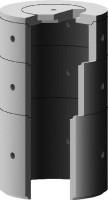 Element de puits béton pour regard diamètre 1000 hauteur 0.60m perforé SOBEMO