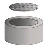 Tête ronde avec fonte hydraulique pour tabouret pvc diamètre 315mm hauteur intérieur 15cm SOBEMO