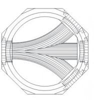 Cunette béton diamètre 1000mm 135° pour pvc fonte diamètre 200mm SOBEMO