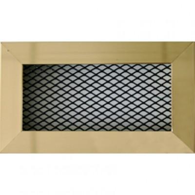Grille cheminée laiton/noir 80x150mm AUTOGYRE