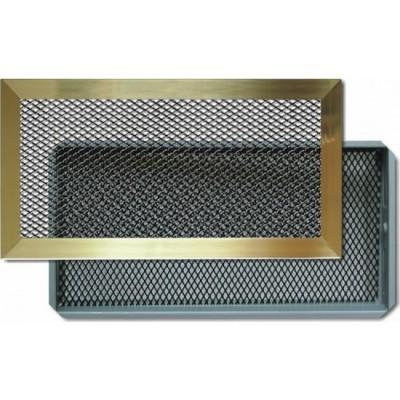 Grille cheminée laiton noir 300x150mm AUTOGYRE
