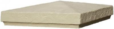 Chapeau de pilier chaumont 41x41cm crème béton WESER