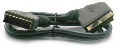 Cordon péritel mâle/mâle 21 broches 0,80m METRONIC
