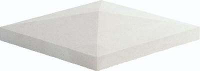 Chapeau pilier pointe diamant 50x50cm blanc cassé WESER