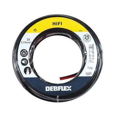Bobine HI FI 2x0,75mm² 25m noir et rouge DEBFLEX