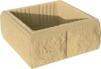 Elément de pilier béton bosselé ton pierre 30x30x16.7cm WESER