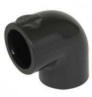 Coude mixte PVC pression 90° femelle-femelle diamètre 63 NICOLL