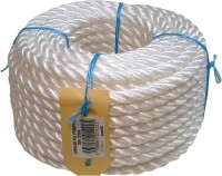 Cordage PE blanc diamètre 10mm 100m CORDERIES TOURNONAISES