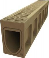 Caniveau monoblock R200V hauteur 330mm largeur 1m00 ACO PRODUITS POLYMERES