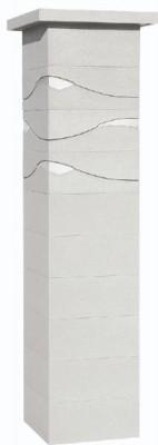 Pilier béton ONDEA blanc 39x39x172cm WESER