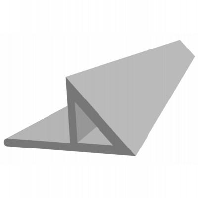 Liteau triangulaire PVC renforcé 20R avec languette hauteur 15x30x20mm 2.5m PLAKA GROUP