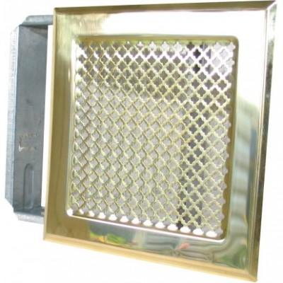 Grille laiton 150x150mm + précadre AUTOGYRE