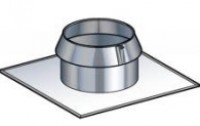 Solin toit plat inox diamètre 150mm POUJOULAT