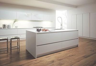 Plan de travail blanc mat 38x640mm 304cm formopan salins les thermes 73600 destockage habitat - Destockage plan de travail cuisine ...