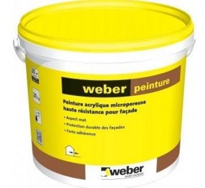 peinture acrylique pour fa ade rose ambre 376 weber laon 02000 d stockage habitat. Black Bedroom Furniture Sets. Home Design Ideas