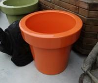 Pot céramique orange