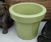 Pot céramique vert