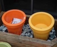 Pot céramique jaune