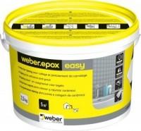 Colle et joint époxy facile carrelage céramique mosaïque weber.epox easy blanc - seau 2,5 kg