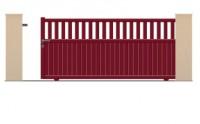 Portail aluminium coulissant  hauteur 1600mm longueur 3500mm