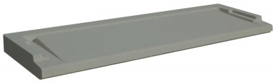 Seuil PMR gris 34x10cm