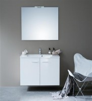 Meuble WOODSTOK 2 portes blanc brillant 90cm