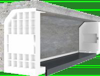 Coffre demi-linteau béton largeur 2700mm avec sous face EVENO FERMETURES