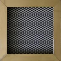 Grille de cheminée 150x150mm laiton/noir AUTOGYRE