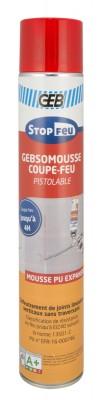 Mousse polyuréthane GEBSOMOUSSE coupe feu pistolable AE 750ml GEB