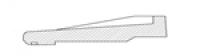 STYL APPUI en 90cm blanc PRB