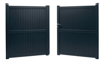Portail aluminium ZIRCON 3x1.60m gris ROY