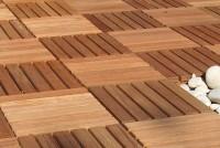 Dalle bois en bangkirai 50x50cm épaisseur 3 cm GEDINOR