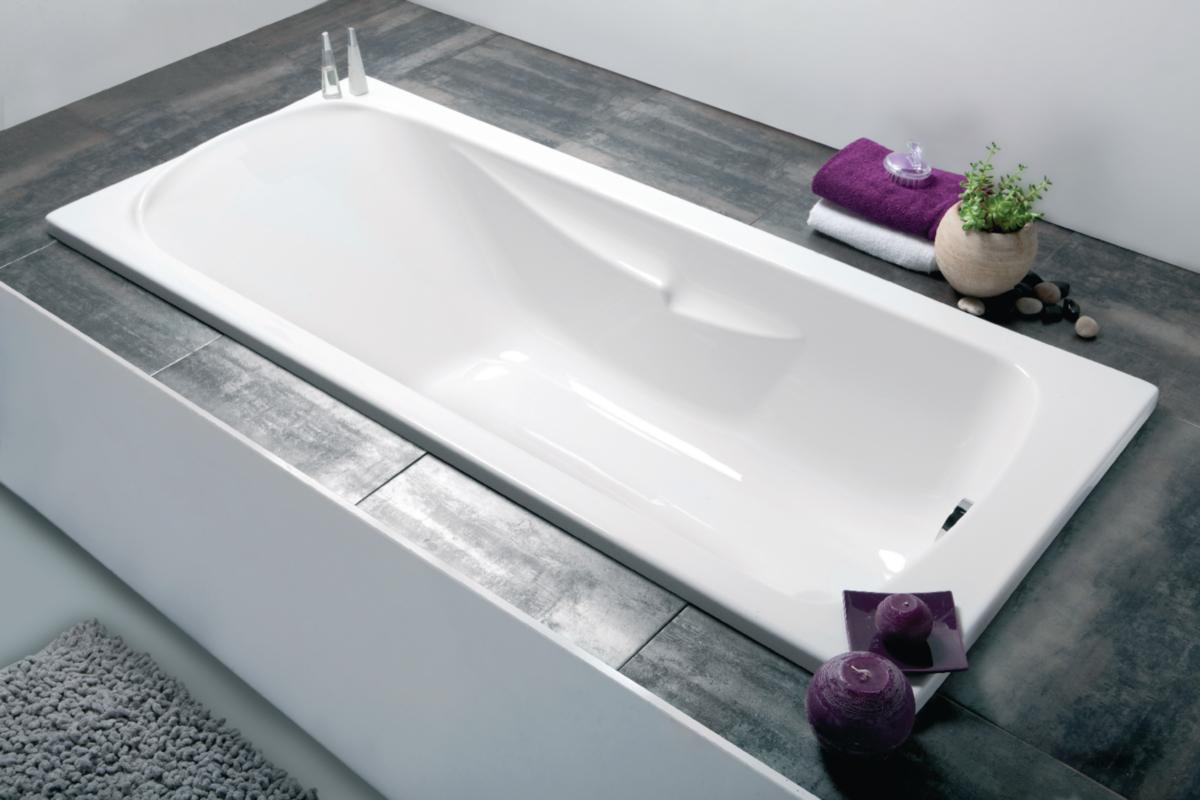 Baignoire Fibre De Pierre baignoire foria2 160x75cm en toplax blanc avec accoudoirs et repose-tête  intégrés - aquarine 199163