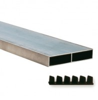 Règle aluminium de maçon 100x18mm avec embouts 3,5ml